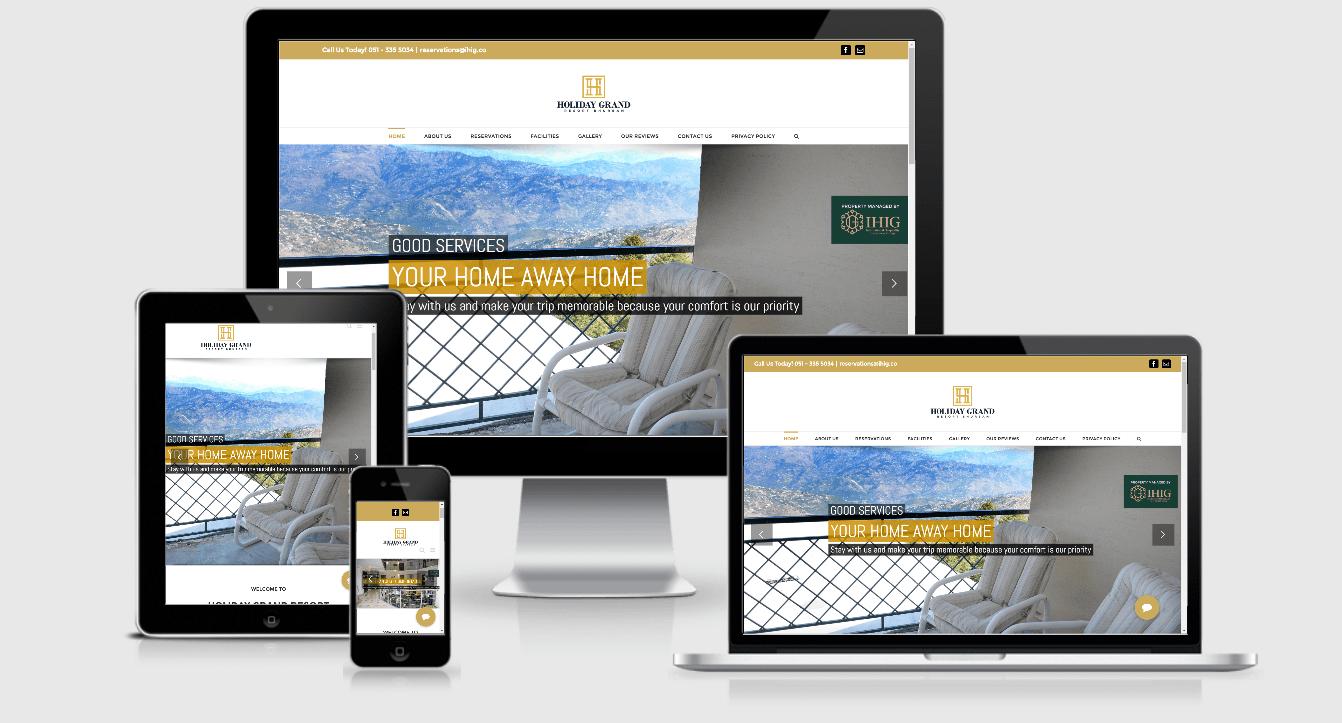 WordPress Resort Website